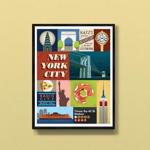 new york city art print poster