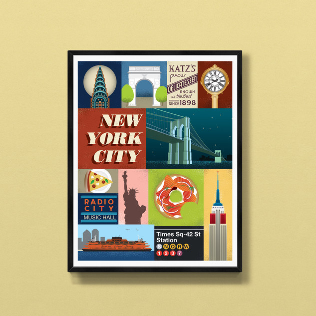 new york city art print poster
