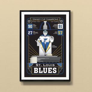 st louis blues art print poster
