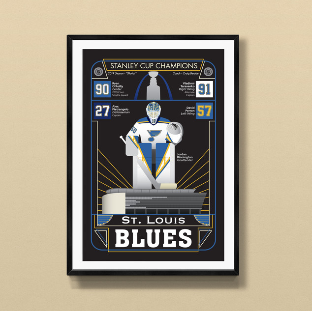 st louis blues art print poster