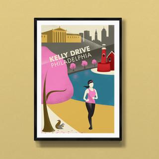 kelly drive philadelphia print poster