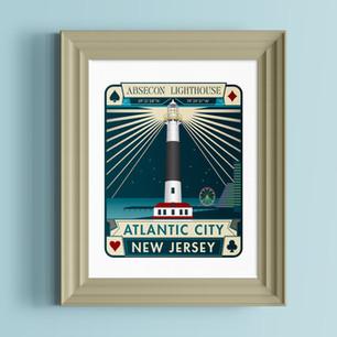 absecon lighthouse atlantic city art print