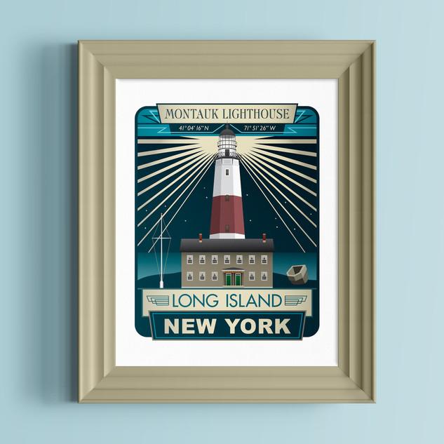 montauk lighthouse art print
