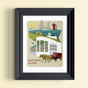 mackinac island art print michigan
