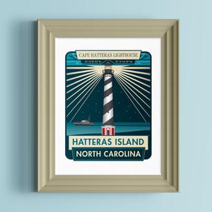 cape hatteras lighthouse art print north carolina