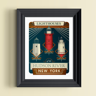 lighthouse of the hudson river art print