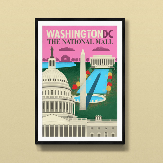 national mall washington dc print poster