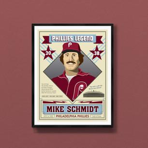 Mike Schmidt Philadelphia Phillies art print
