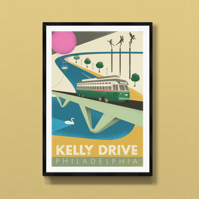 kelly drive philadelphia art print poster