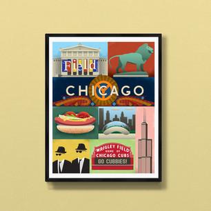 chicago art print poster