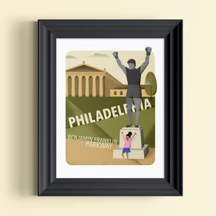 rocky balboa art museum philadelphia art print