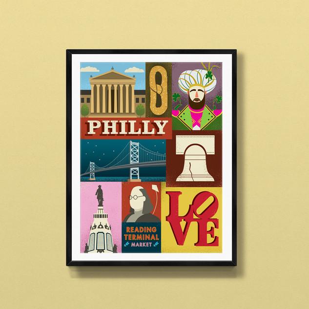 philadelphia art print poster