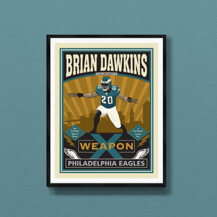 Brian Dawkins Philadelphia Eagles art print