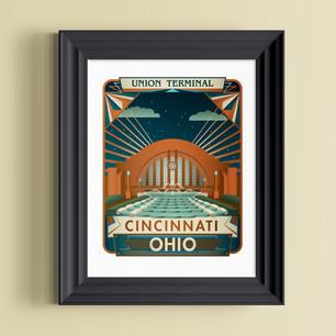 union terminal art print cincinnati