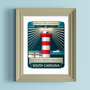 harbour town lighthouse hilton head south carolina art print