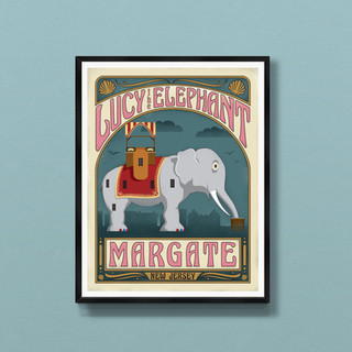 margate lucy the elephant new jersey art print