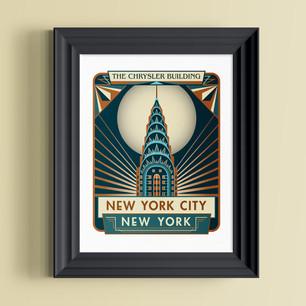 chrysler building new york city art print