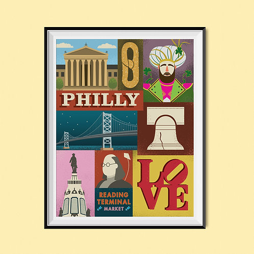 Philadelphia Collage Poster