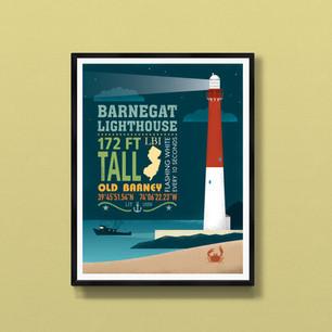 barnegat lighthouse long beach island art print