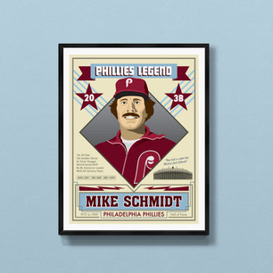 mike schmidt philadelphia phillies art print poster