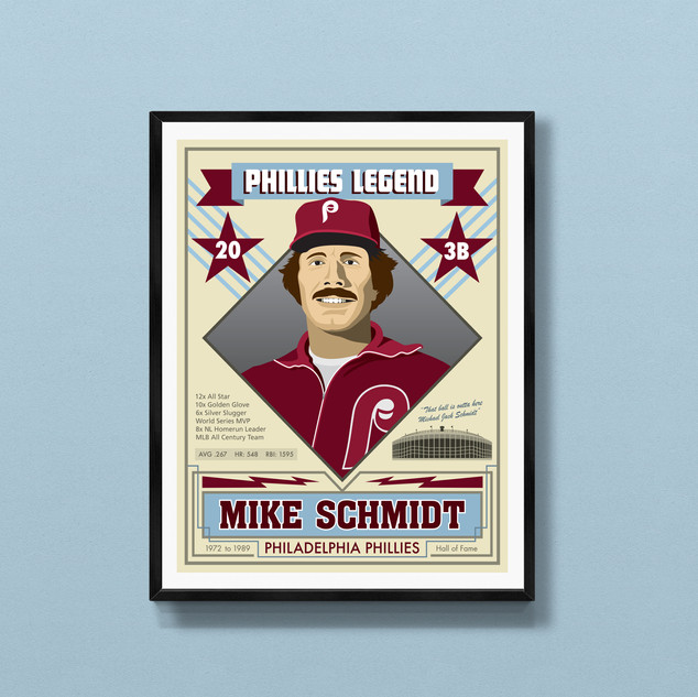 mike schmidt philadelphia phillies art print poster
