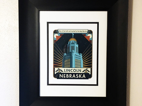 Customer photo of my Nebraska print