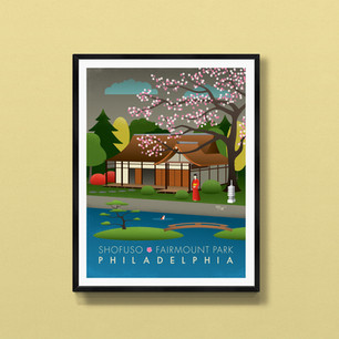 shofuso philadelphia art print poster