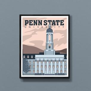 Penn State University art print State College PA poster wall decor