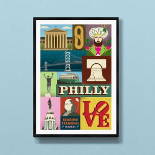 Philadelphia art print poster wall decor