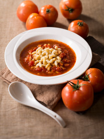 Macaroni in Tomato Broth