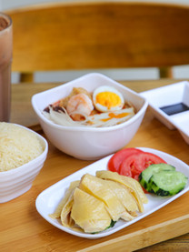 Chicken Rice and Laksa Set