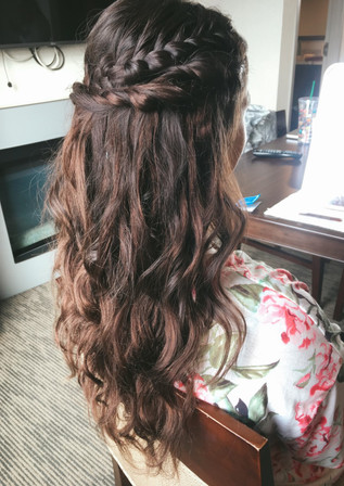 calgary on location bridesmaid hair