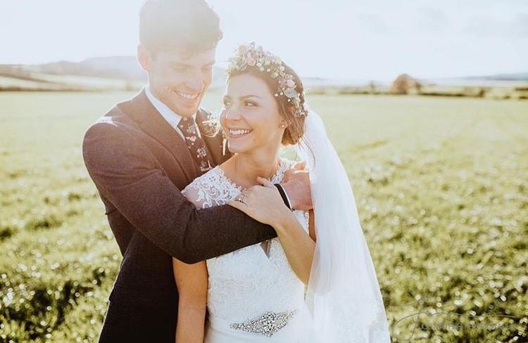 mountain wedding floral crown