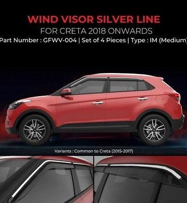 WIND VISOR SILVER LINE HYUNDAI CRETA (-2020)