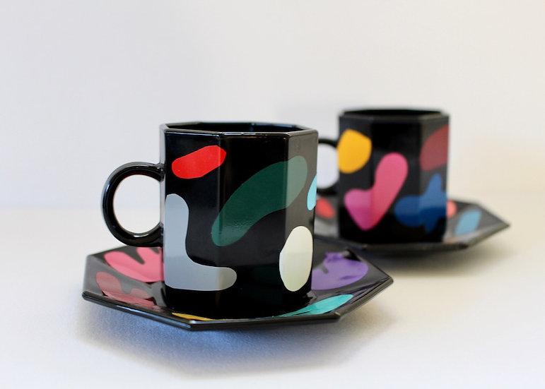 Set of 2 Espresso Art Cups & Saucers SOLD