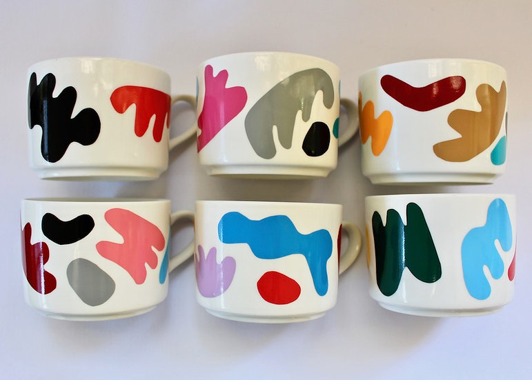 Art Coffee Cup Set of 6