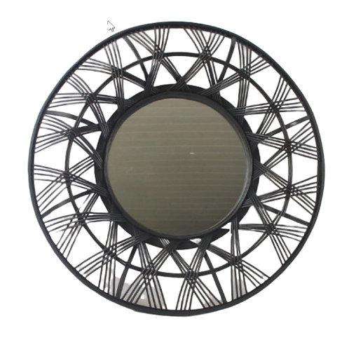 Miroir bambou noir D64