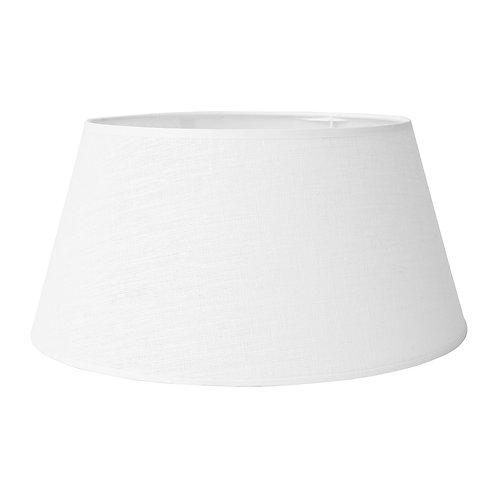 Abat jour blanc lin D46 x H 21 cm