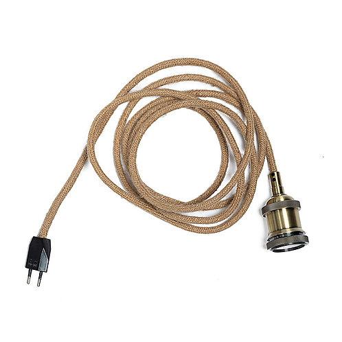 Câble électrique avecprise - corde L 300cm /  E27