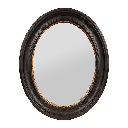 Miroir - AUREOL -Noir + doré Bois + miroir 40 x 50cm