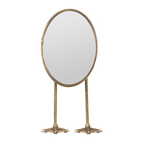 Miroir pattes oiseaux doré H45cm à poser