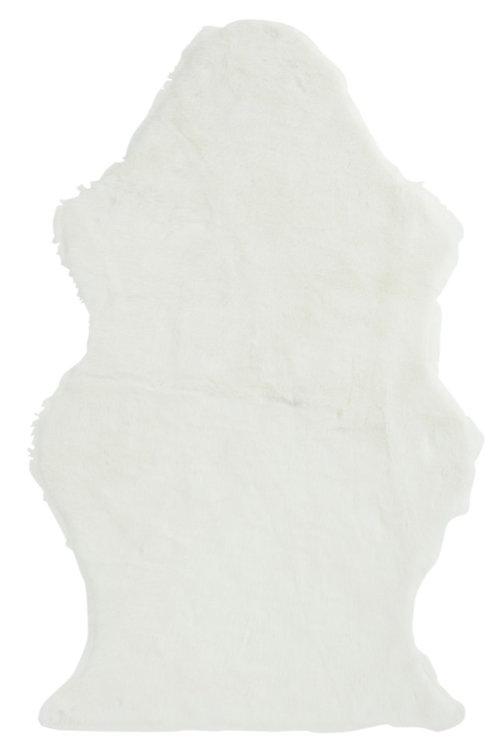 Tapis Mouton Imitation Fourrure Artificielle Blanc