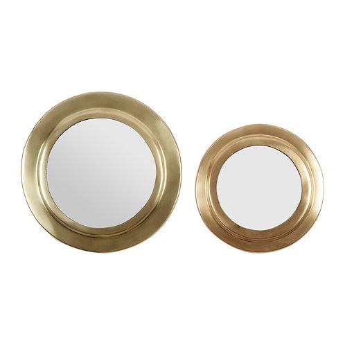 Set 2 miroirs  Doré