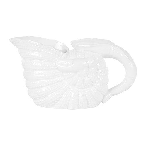 Pichet coquillage nymphe blanc