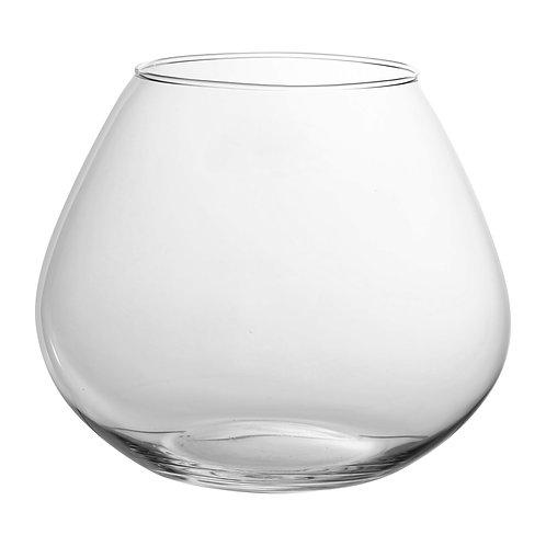 Vase SATIN transparent -verre -D16x H12cm