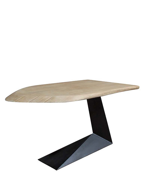 "Table haute ""Santa Cruz"" plateau Acacia 90x110x172cm"