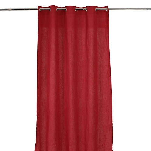 Rideau Rouge lin300 x 130cm.