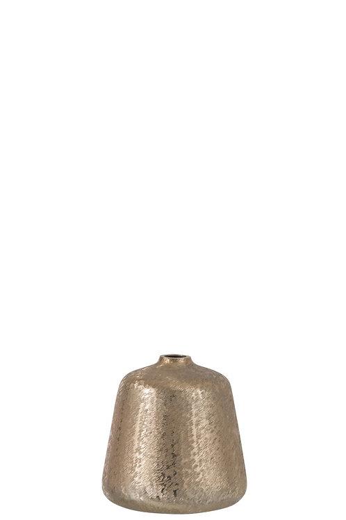 Vase Conique Aluminium Brosse Or