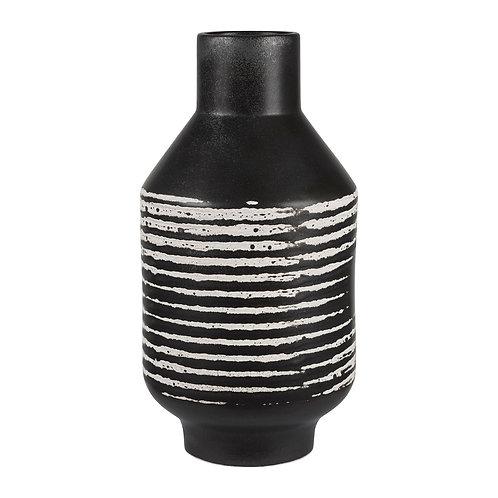 Vase calci noir d13.5xh25cm