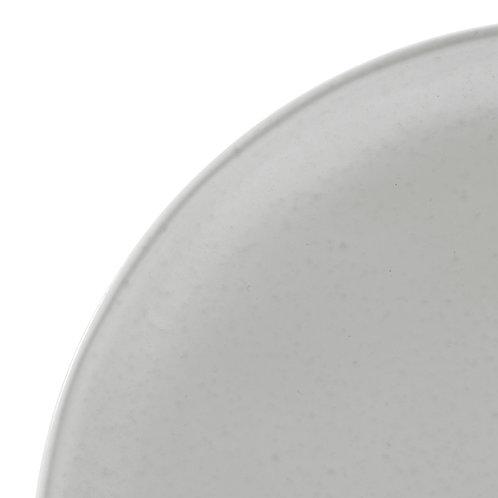 Assiette dessert Ingrid grès blanc D21cm